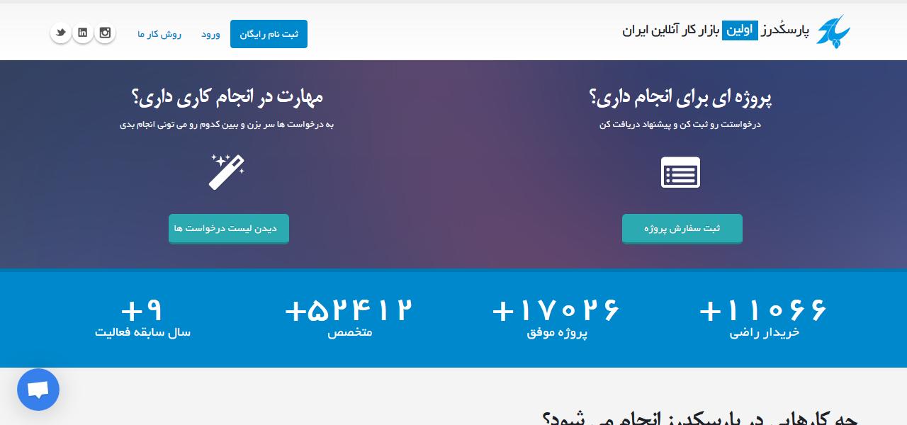 پارسکدرز – اولین بازار کار آنلاین ایران